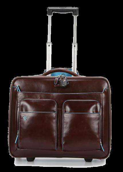 e43bea222d9c Дорожная сумка Piquadro CA3338B2/MO кожаная красно-коричневая Blue Square  45 x 41,