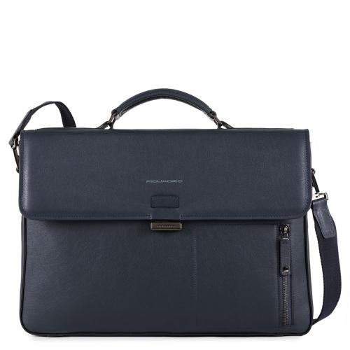 109378014cca Портфель Piquadro CA4419W86/BLU мужской кожаный синий David 41 x 29 x 8 см