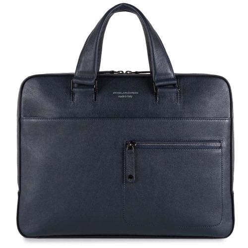 67aa15879505 Сумка Piquadro CA4098W86/BLU кожаная для ноутбука синяя David 37,5 x 28 x
