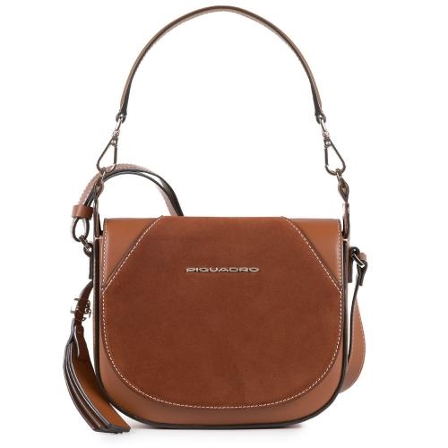 3b9756c03011 Женская сумка Piquadro BD4328MUS/CU кожаная коричневая Muse 21 x 18 x 8 см