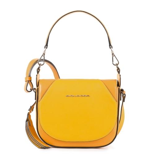 cb4c6518b9d3 Женская сумка Piquadro BD4328MUS/G кожаная желтая Muse 21 x 18 x 8 см