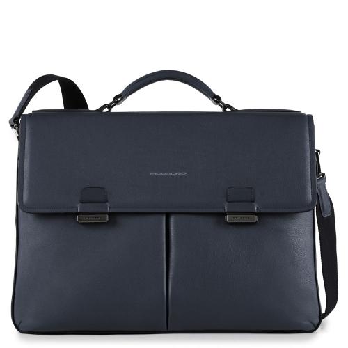 820cc1a98cb3 Портфель Piquadro CA4286W86/BLU мужской кожаный синий David 43 x 32 x 13 см