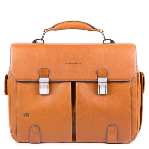 05388e02c126 Портфель Piquadro CA1068B2S/CU мужской кожаный табачный B2S 43 x 33 x 13 см