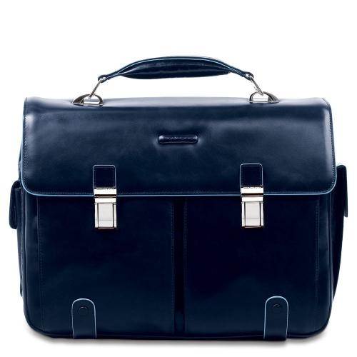 843d19088662 Портфель Piquadro CA1068B2/BLU2 кожаный темно-синий Blue Square 43 х 31 х 13