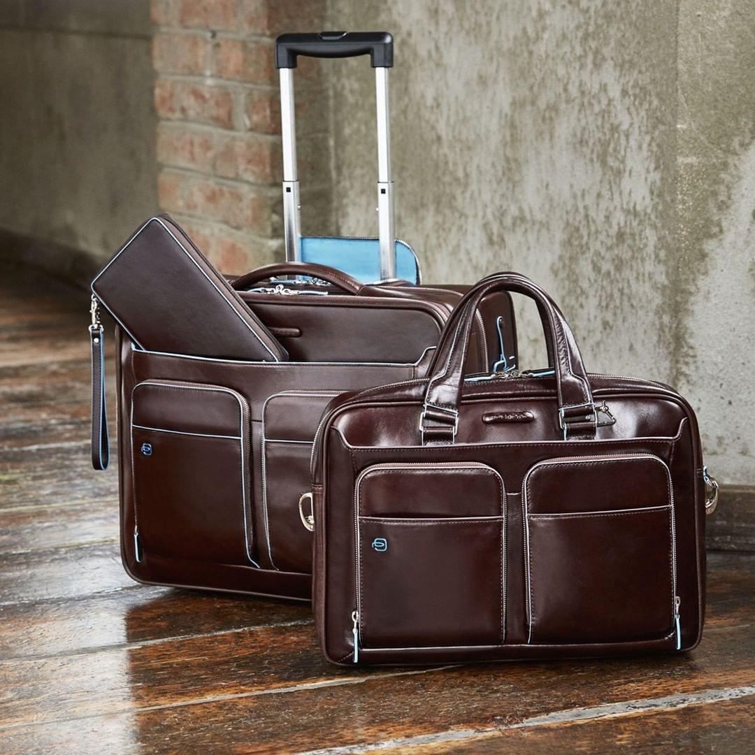 ac4138ede411 Сумка Piquadro CA2849B2/MO кожаная красно-коричневая — купить в ...