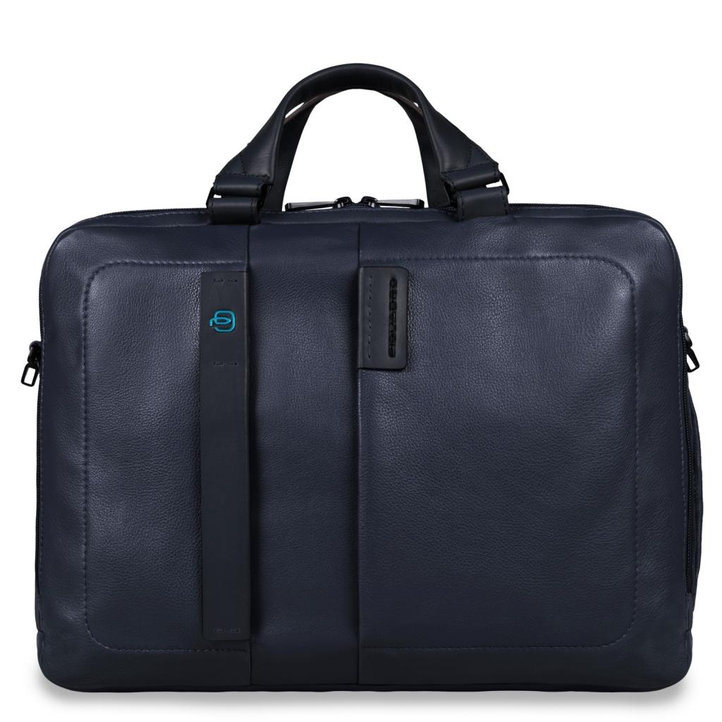 a01ad2646f09 Сумка Piquadro CA3347P15/BLU3 кожаная синяя — купить в официальном интернет-магазине  пиквадро