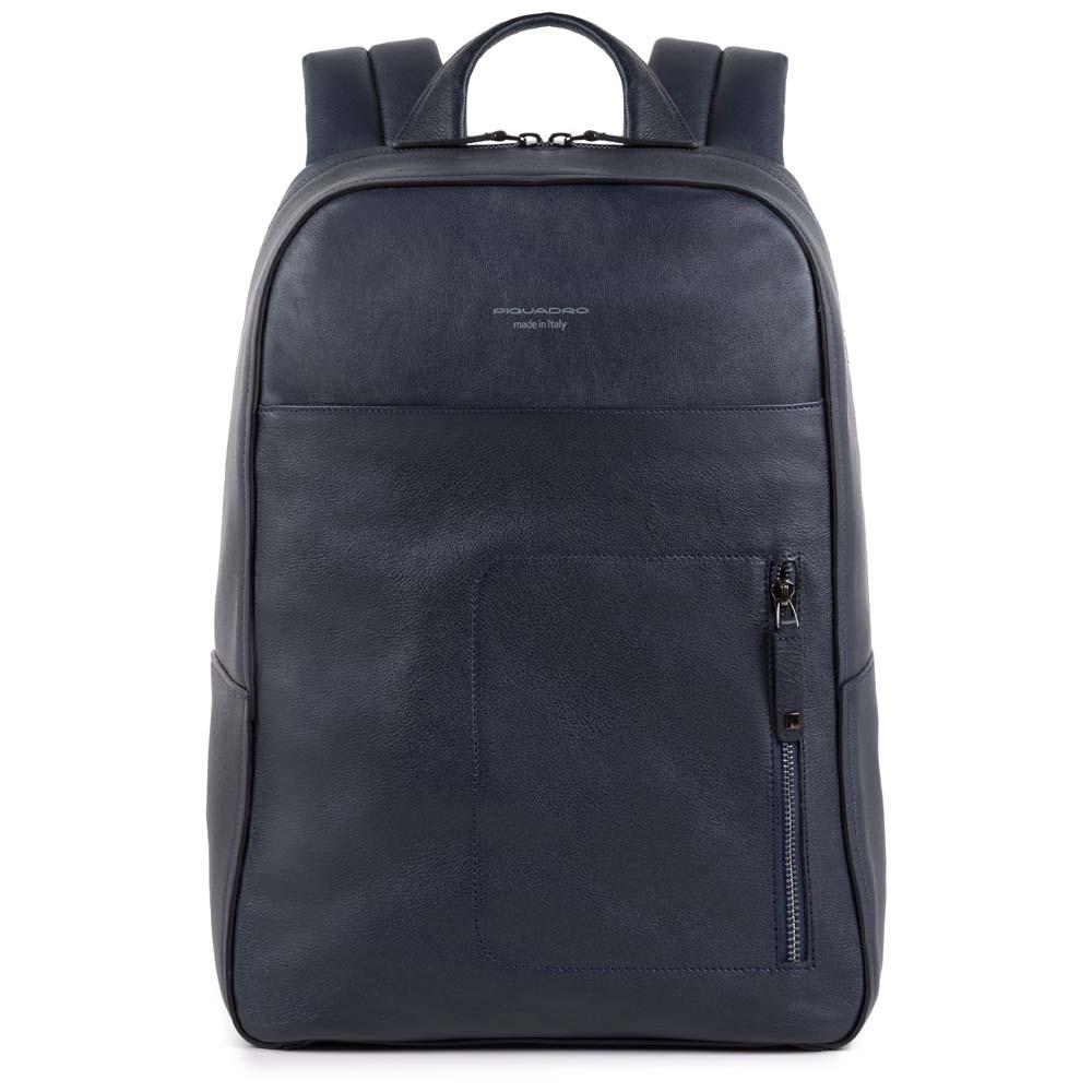 21c2c2e818ee Рюкзак Piquadro CA4092W86/BLU кожаный для ноутбука синий — купить в  официальном интернет-магазине пиквадро