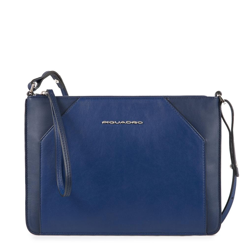 679dbc216a00 Женская сумка-клатч Piquadro AC4329MUS/BLU кожаная синяя — купить в официальном  интернет-магазине пиквадро