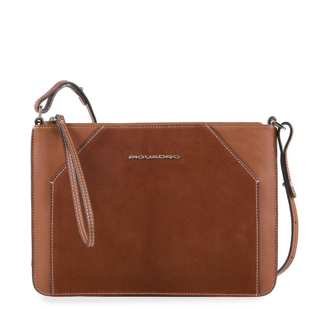 cef79ddf80cd Женская сумка-клатч Piquadro AC4329MUS/CU кожаная коричневая. Коллекция.  Muse