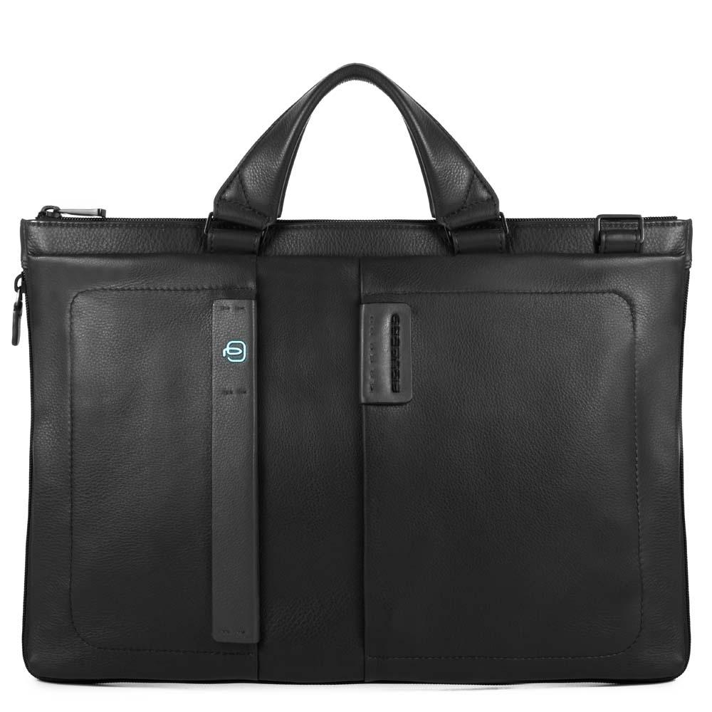 c56ba3e33015 Сумка Piquadro CA4021P15/N кожаная черная — купить в официальном  интернет-магазине пиквадро