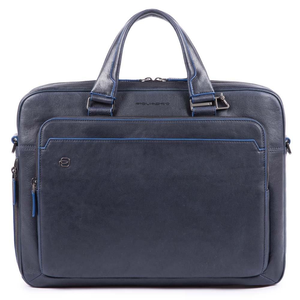 3e1900e1382f Сумка Piquadro CA4027B2S/BLU для документов кожаная синяя — купить в официальном  интернет-магазине пиквадро