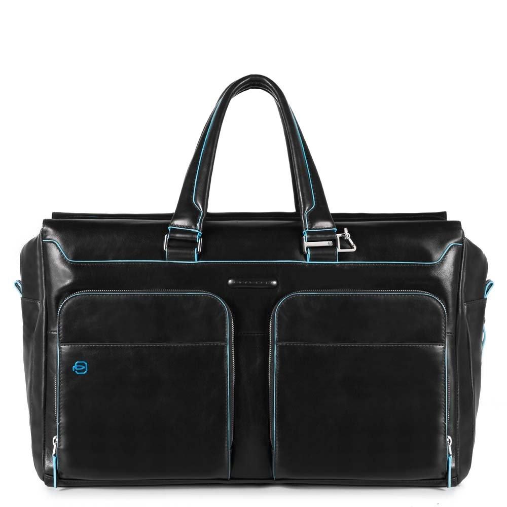 424bb80020e9 Дорожная сумка Piquadro BV4342B2/N кожаная черная — купить в официальном  интернет-магазине пиквадро