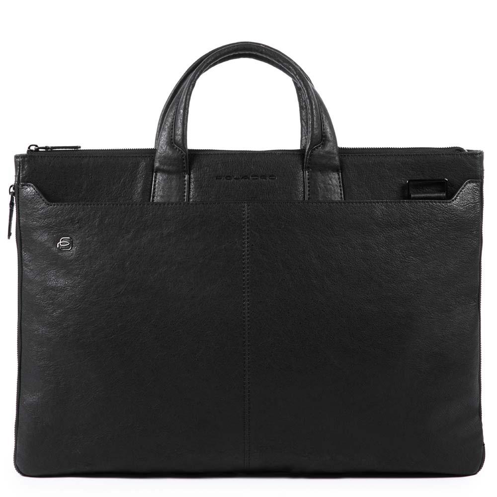 6c6f6c90398e Сумка Piquadro CA4598B3/N кожаная для ноутбука черная — купить в  официальном интернет-магазине пиквадро