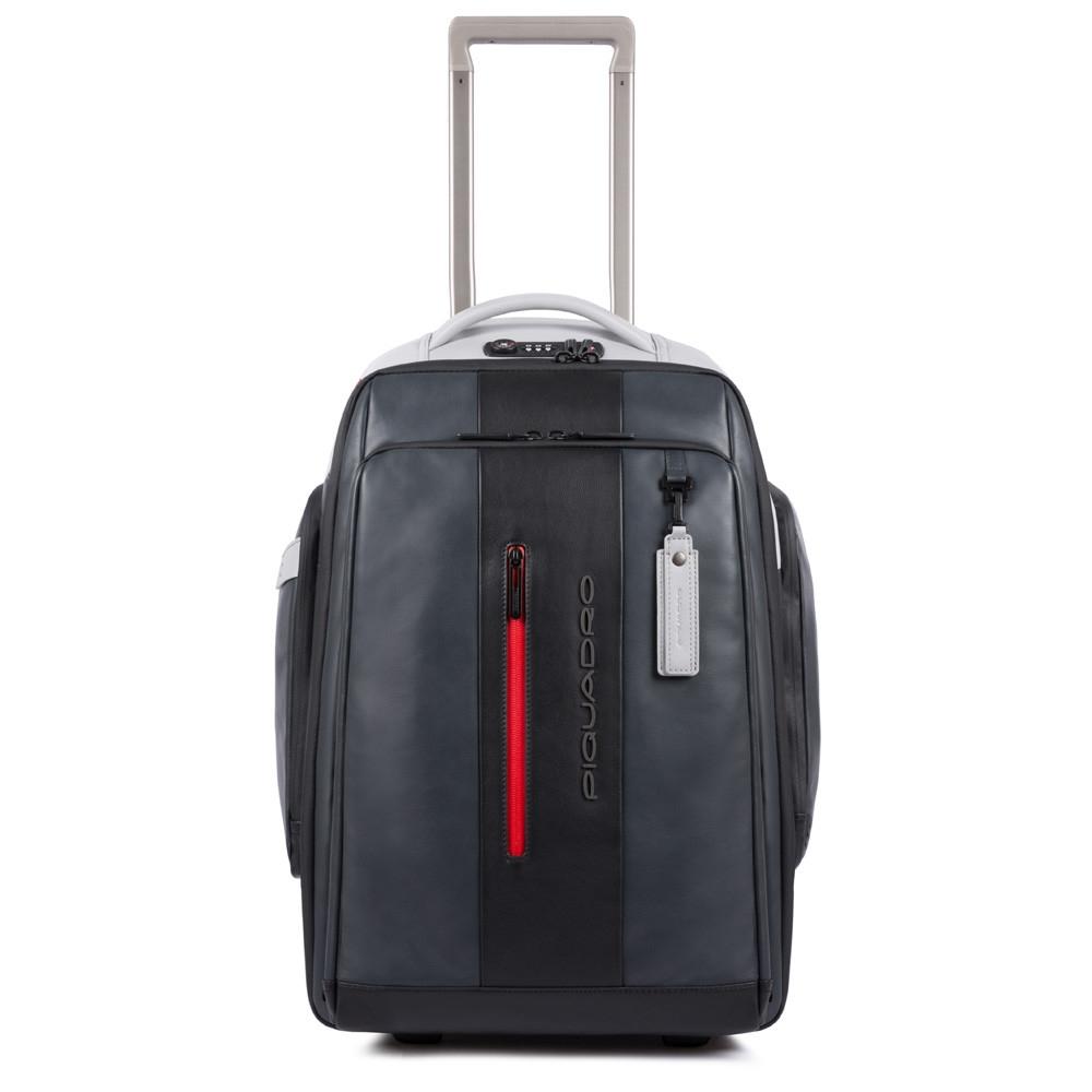 e5848b94969d Дорожная сумка - рюкзак Piquadro BV4817UB00BM/GRN кожаная черно-серая —  купить в официальном интернет-магазине пиквадро