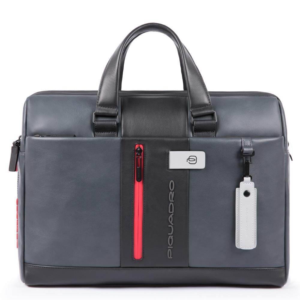 0945d4d4c194 Сумка для ноутбука Piquadro CA3339UB00/GRN кожаная черно-серая — купить в  официальном интернет-магазине пиквадро