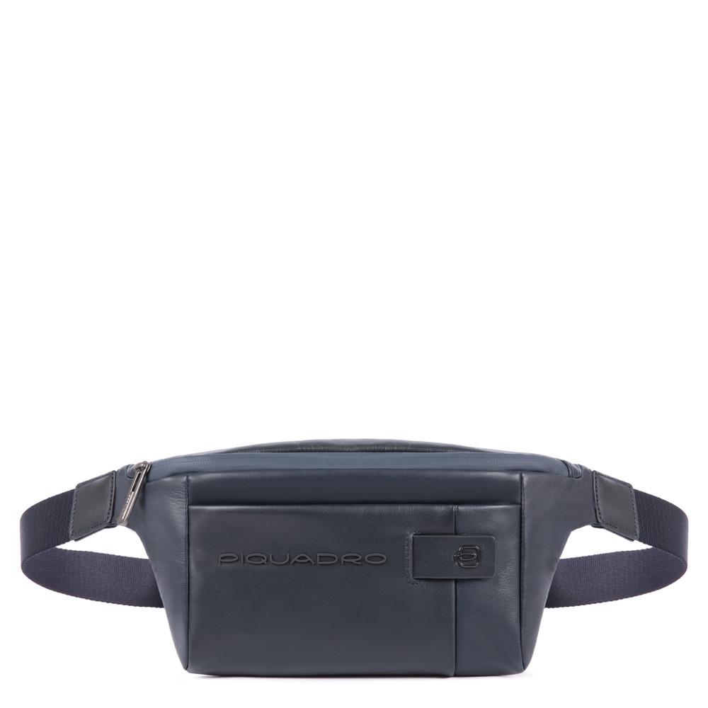 435afc330528 Сумка на пояс Piquadro CA2174UB00/BLU кожаная синяя — купить в официальном  интернет-магазине пиквадро