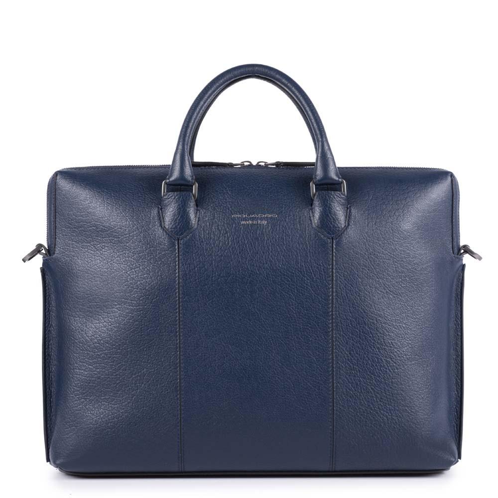 eb350ba8c7c4 Кожаная сумка для ноутбука и документов Piquadro CA4098S101/BLU синяя —  купить в официальном интернет-магазине пиквадро