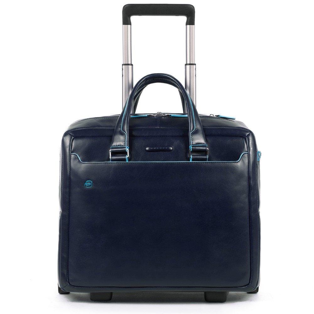 b3ae49c852cc Дорожная сумка для ручной клади Piquadro BV4729B2/BLU2 кожаная синяя. NEW
